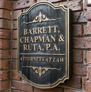 Barrett, Chapman and Ruta Plaque
